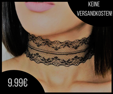 Plain Lace Choker