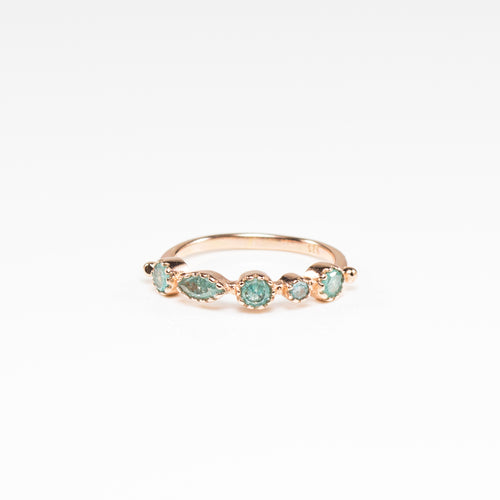 Rosie Green Quartz Rose Gold Ring