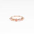 Rosie Colour Quartz Rose Gold Ring