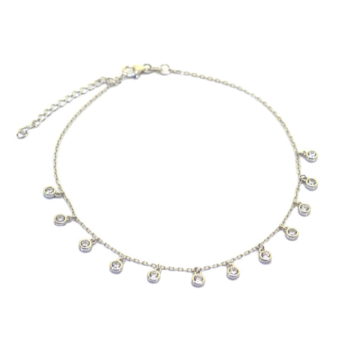 Drop Crystal Anklet