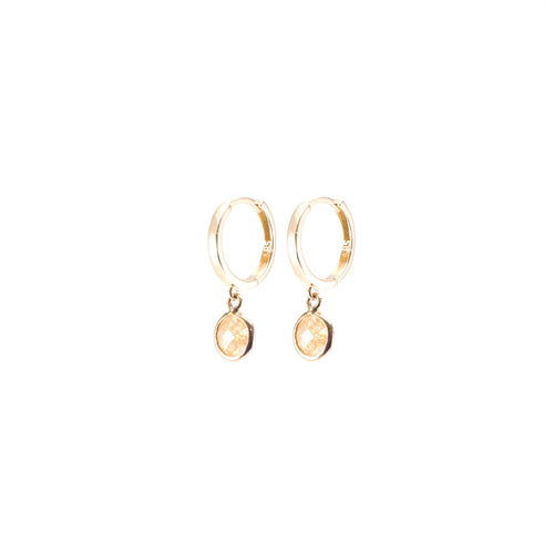 Nude Quartz Rose Gold Earring