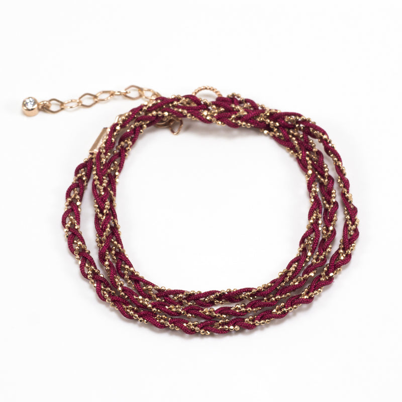 Braided Three Row Bracelet