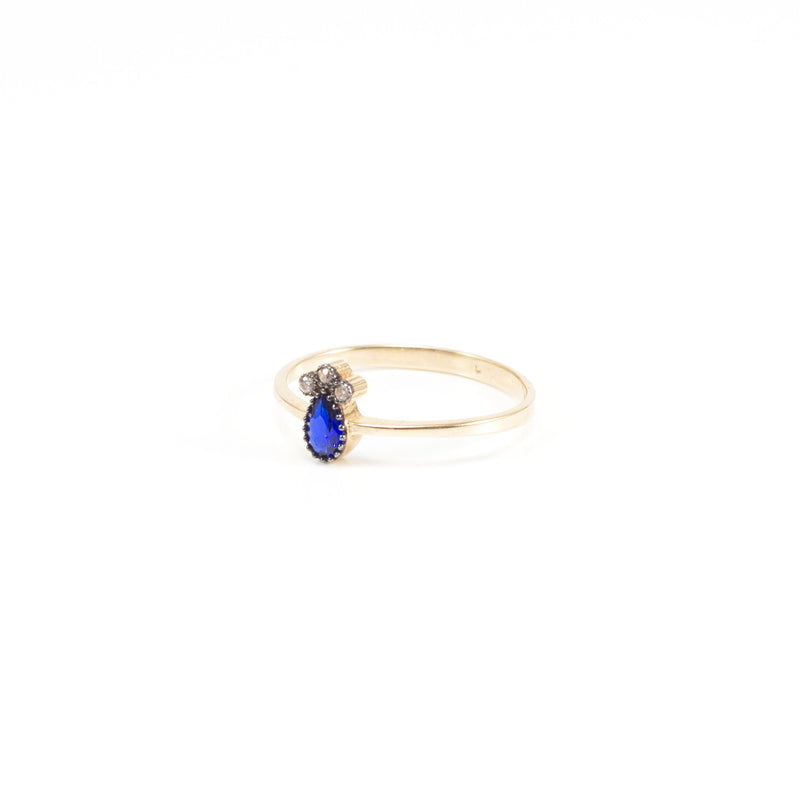 Sapphire Pineapple Rose Gold Ring