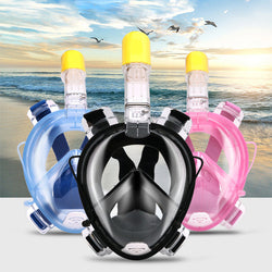 Full Face Anti-Fog Snorkeling Mask With GoPro Mount