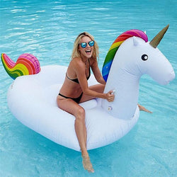 Giant Inflatable Rainbow Unicorn Pool Float