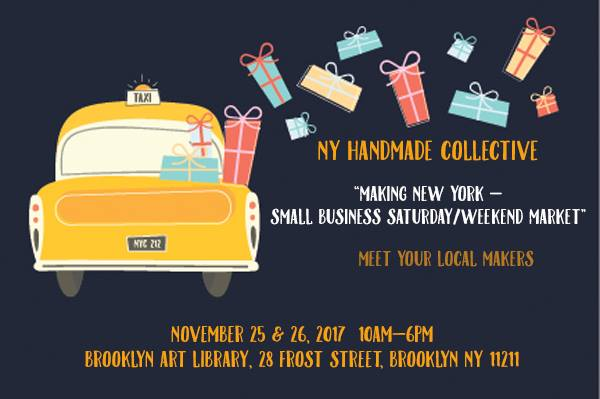 We're at Small Business Saturday at the Brooklyn Art Library! Stop by and say Hi.