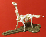 Brontosaurus miniature skeleton model by Tinysaur on a house key for scale. They really are tiny!
