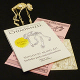 Chimpanzee miniature skeleton model with laser cut bones and instructions by Tinysaur.us