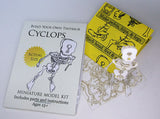 Cyclops miniature skeleton model with laser-cut bones and instructions by Tinysaur.us