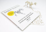 Saber Tooth miniature skeleton model with instructions