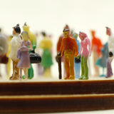 Close-up of tiny hand-painted figures