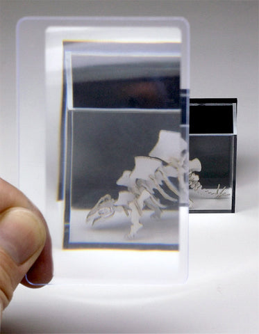 Wallet sized magnifier card polycarbonate