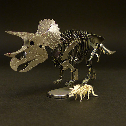 Metal Earth Triceratops with Tinysaur Triceratops