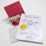True Rex miniature T-rex skeleton model with instructions