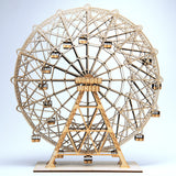 "Coney Island Wonder Wheel 14"" sculpture in laser-cut wood by Everythingtiny.com"