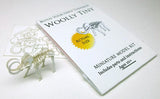 Woolly Tiny miniature skeleton model with laser-cut bones and instructions by Tinysaur.us