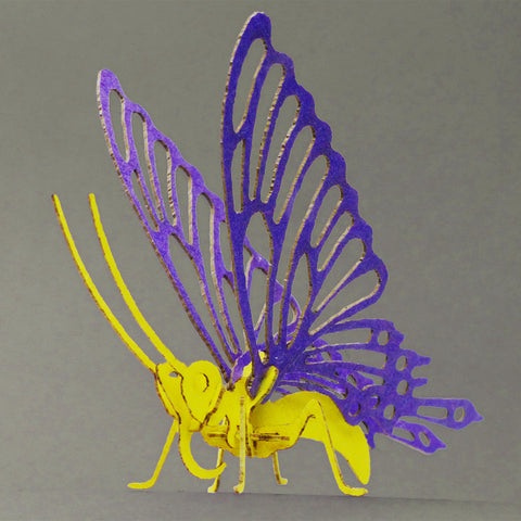 Butterfly bare bones miniature skeleton model