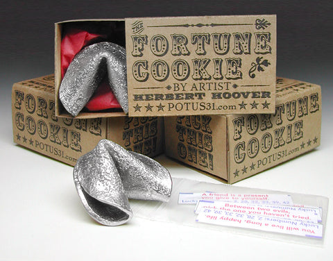 Pewter Fortune Cookie in a Box