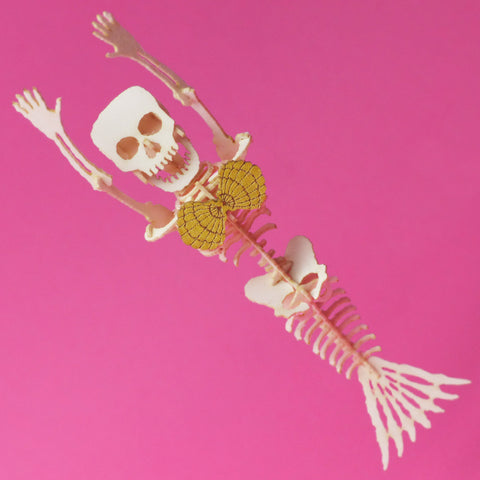 Assembled Mermaid miniature skeleton model by Tinysaur.us