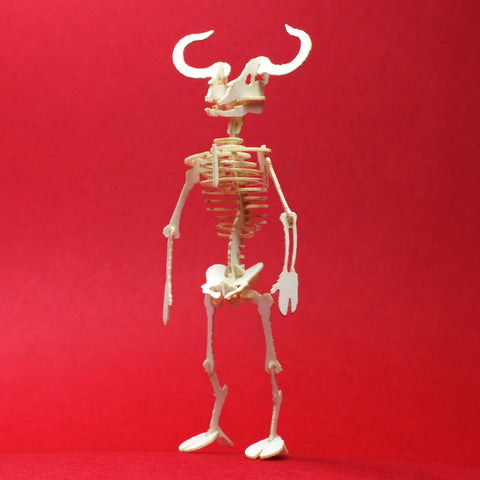 Minotaur miniature skeleton model