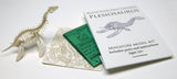 Plesiosaur miniature skeleton model with laser-cut bones and instructions by Tinysaur.us