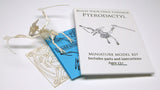 Pterodactyl miniature skeleton model with laser-cut bones and instructions by Tinysaur.us