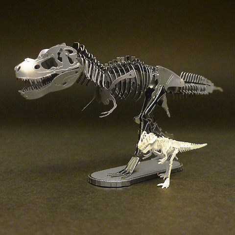 Metal Earth T-rex with Tinysaur True Rex