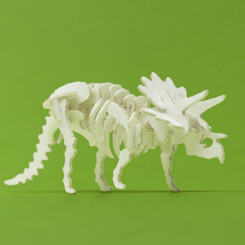 Assembled Triceratops mini skeleton model by Tinysaur.us