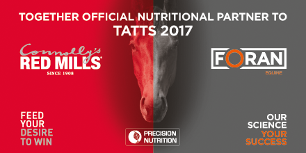 Connolly's RED MILLS & Foran Equine Together, Official Nutritional Partner to Tatts 2017