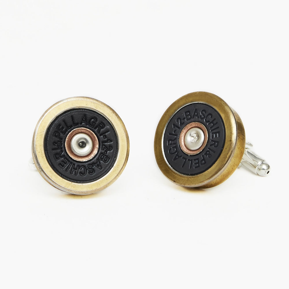 Hicks & Hide 12bore Cufflinks Blue Gold - RedMillsStore.ie