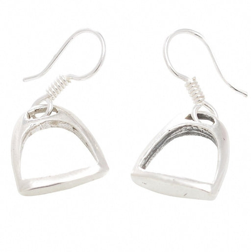 Hiho Silver Handmade Stirrup Earrings | Sterling Silver - RedMillsStore.ie