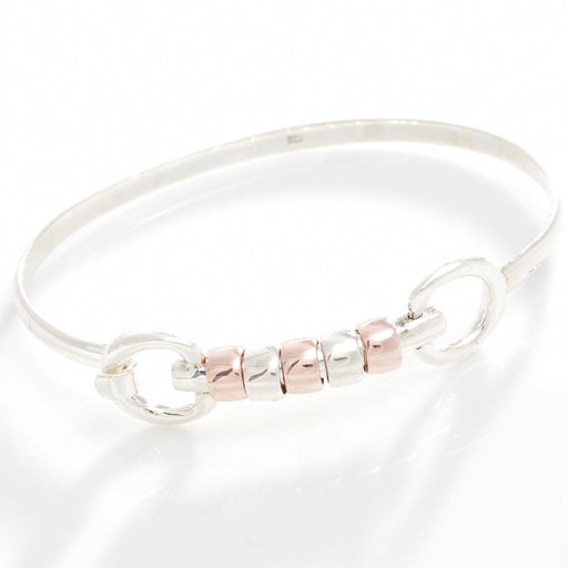 Hiho Silver Cherry Roller Snaffle Bangle | Sterling Silver & 18ct Rose Gold Vermeil - RedMillsStore.ie