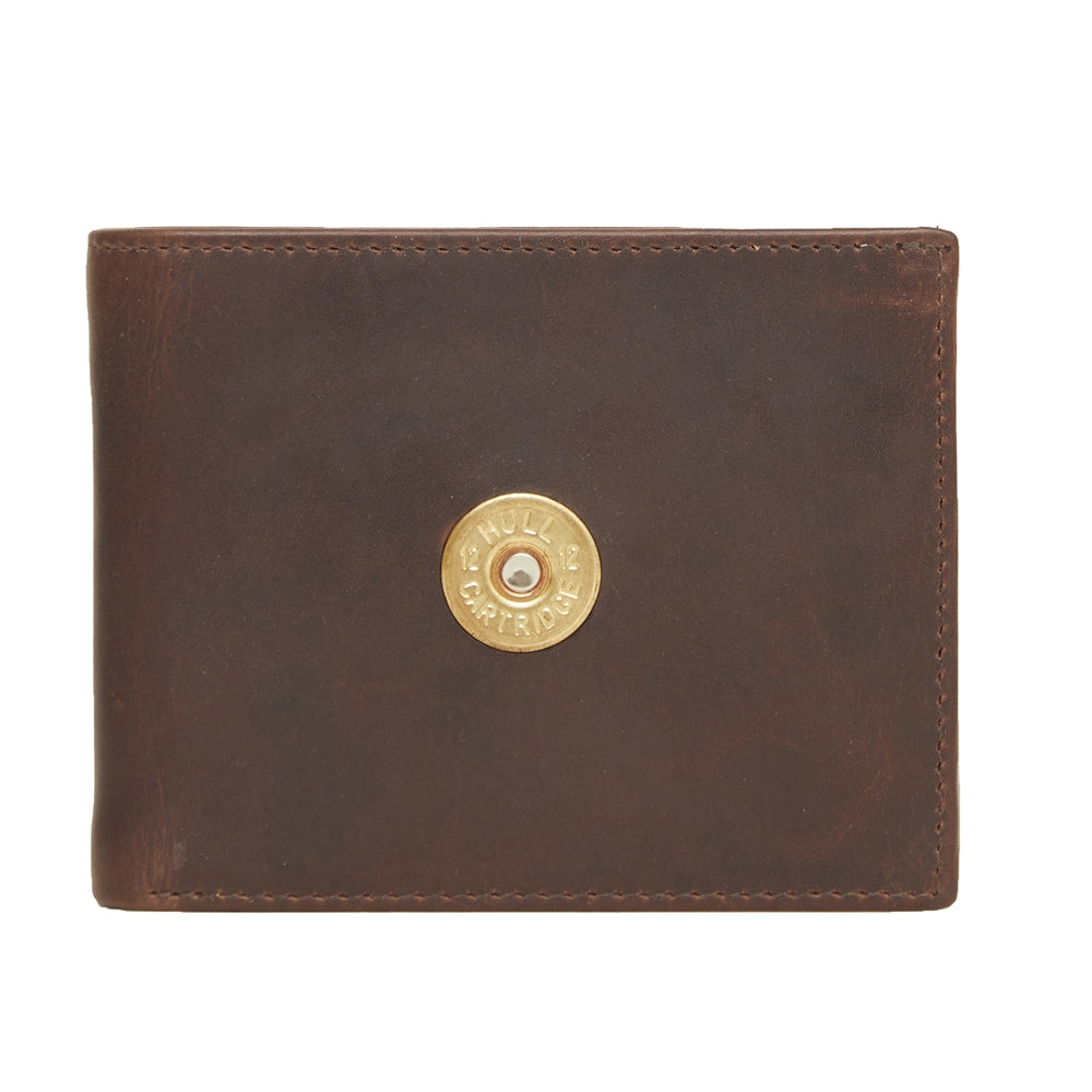 Hicks & Hide 12bore Wallet Brown Leather