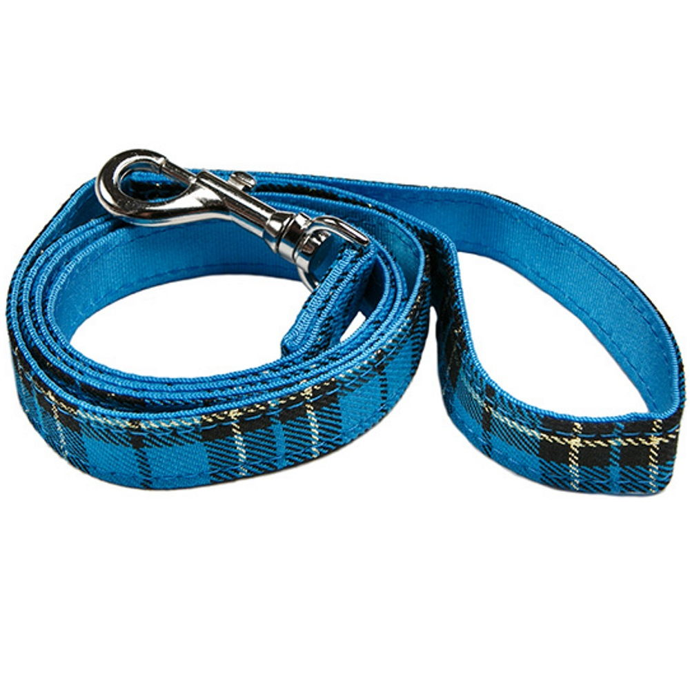 Urban Pup blue tartan dog lead