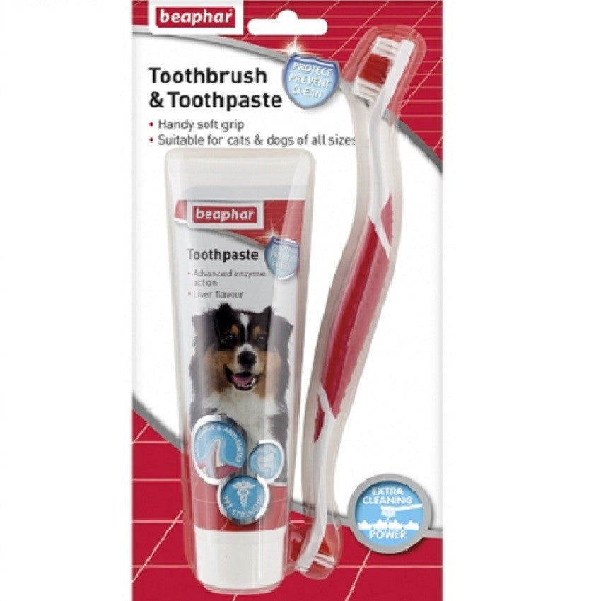 Beaphar Toothbrush and Toothpaste Kit - RedMillsStore.ie