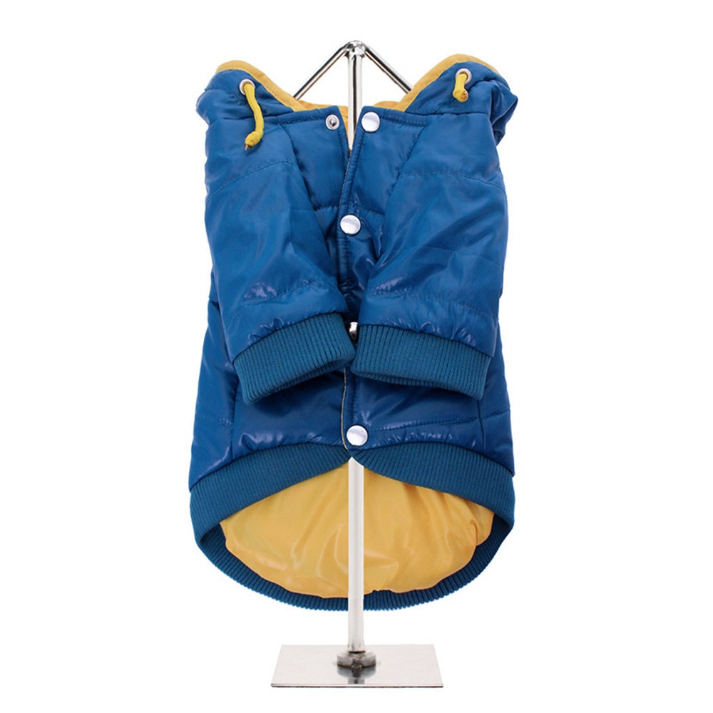 Urban Pup blue insulated panel dog jacket