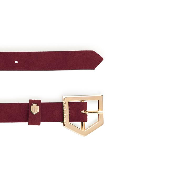 Fairfax & Favor Sennowe suede belt oxblood - RedMillsStore.ie