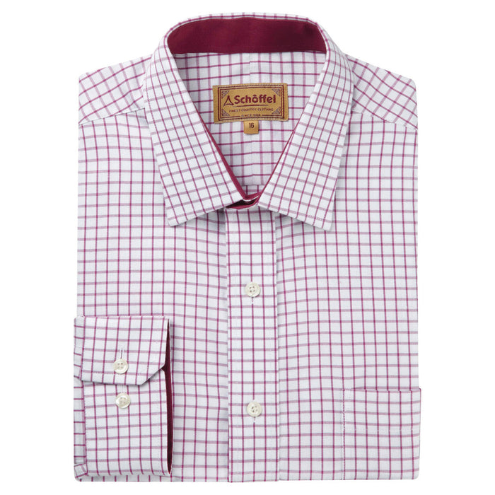 Schoffel Men's Cambridge Classic Shirt Raspberry