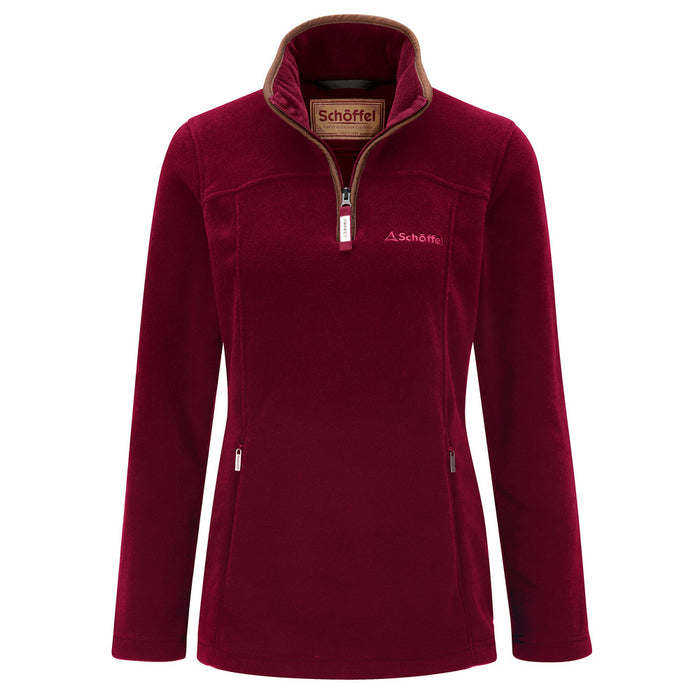 Schoffel Women's Tilton 1/4 Zip Fleece Ruby
