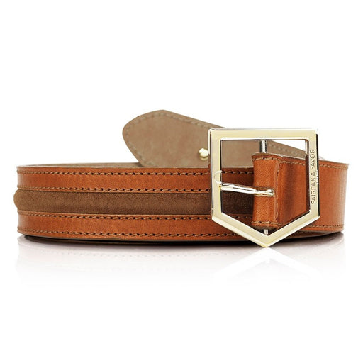 Fairfax & Favor 'The Hampton' belt in tan leather & suede - RedMillsStore.ie