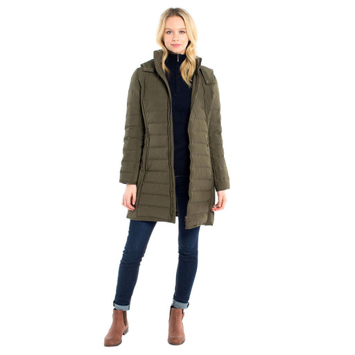 Dubarry womens Devlin Quilted Coat in Olive - RedMillsStore.ie