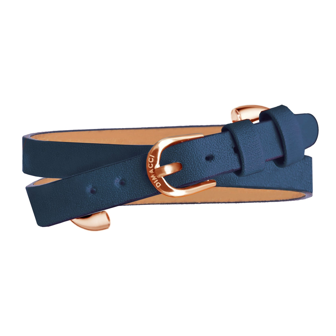 Dimacci Klimke Collection horse bit bracelet in navy blue & rosegold - RedMillsStore.ie