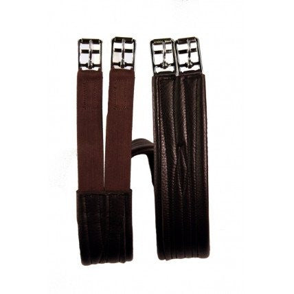Berney Three Fold Leather Elasticated Girth - RedMillsStore.ie