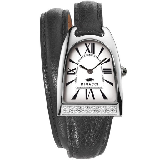 Dimacci Nicy Queen II Watch in black & silver with Swarovski crystals - RedMillsStore.ie