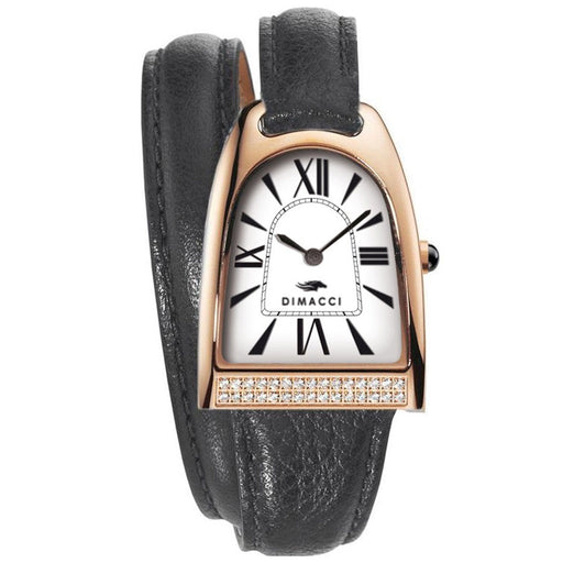 Dimacci Nicy Queen II Watch in black & rose gold with Swarovski crystals - RedMillsStore.ie