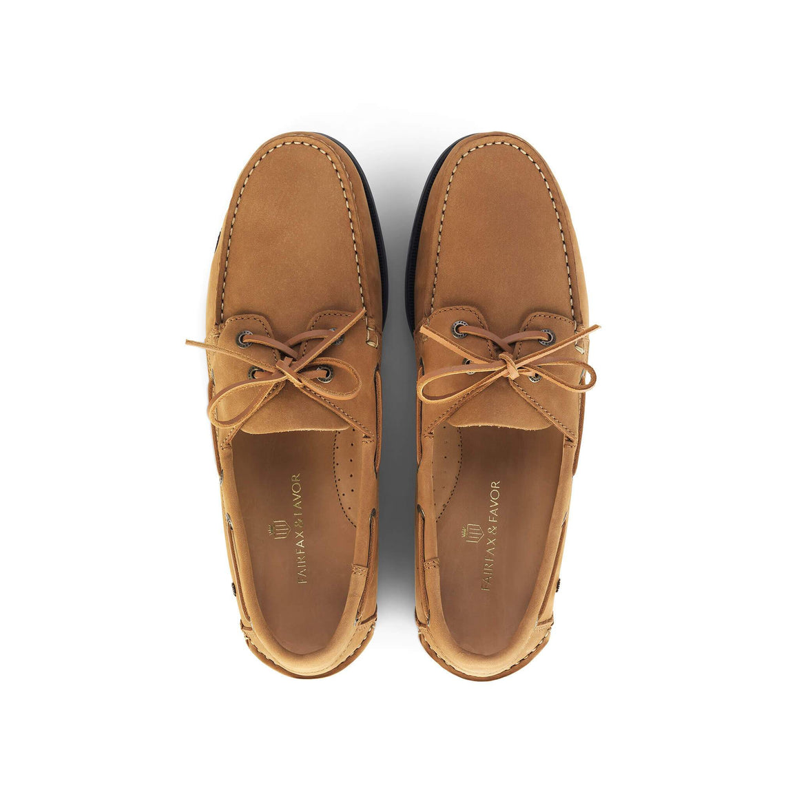 Fairfax & Favor Padstow mens deck shoe in tan