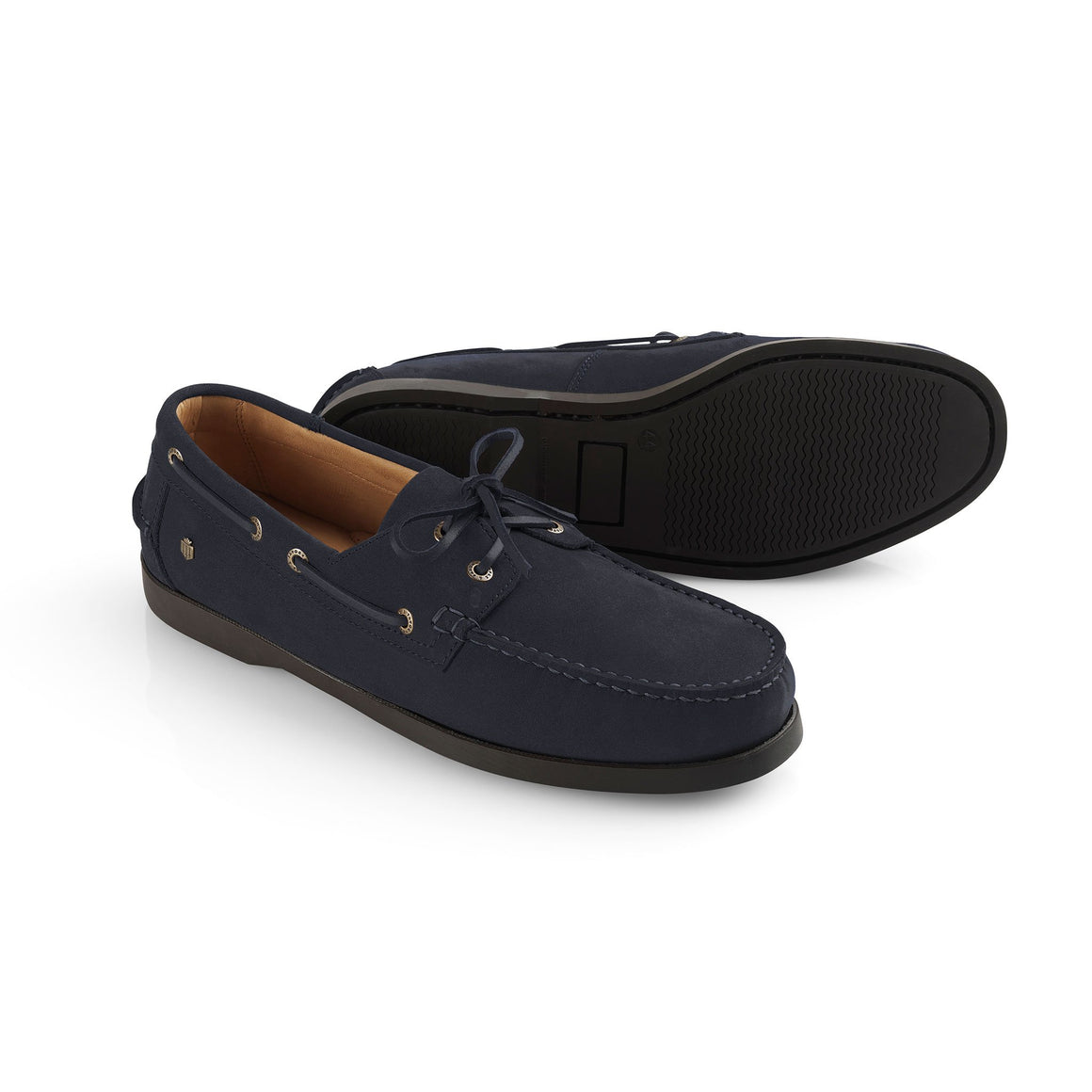 Fairfax & Favor Padstow mens deck shoe in navy