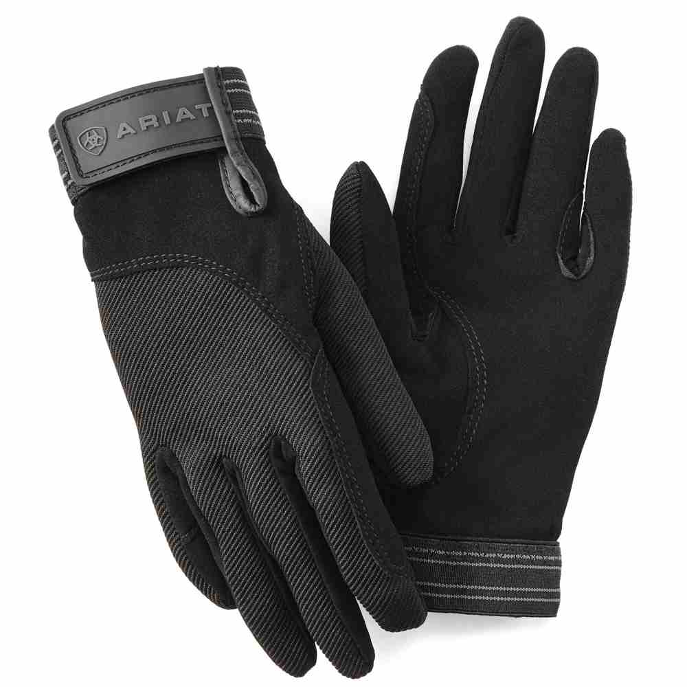 Ariat Adult Unisex Tek Grip Gloves - Black - RedMillsStore.ie