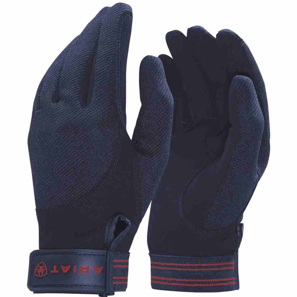 Ariat Adult Unisex Tek Grip Gloves - Navy - RedMillsStore.ie