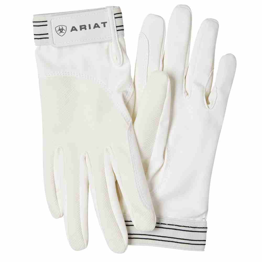 Ariat Adult Unisex Tek Grip Gloves - White - RedMillsStore.ie